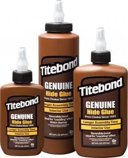"""Medienos klijai """"Titebond Genuine Hide Glue"""". Ypač stiprūs klijai antikvariniams baldams ir muzikos instrumentams"""