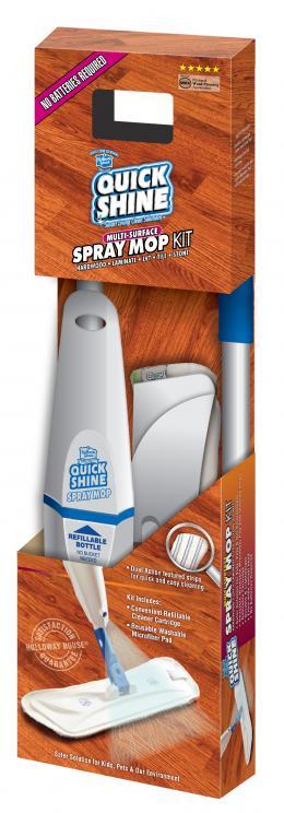 Quick Shine® Įvairių Paviršių Purškiamosios MOP Šluotos Komplektas kaina