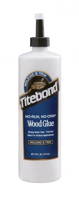 """Tiksotropiniai PVA Klijai Medienai (greito džiūvimo) """"Titebond No-Run, No-Drip Wood Glue"""" kaina"""