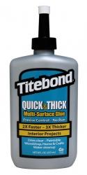 """Tiksotropiniai Universalūs klijai (greito džiūvimo) """"Titebond Quick & Thick Multi-Surface Glue"""" kaina"""